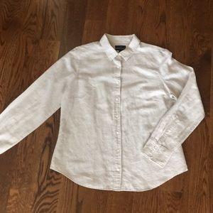 J Crew Linen/Cotton Blend Perfect Shirt 14
